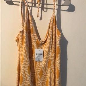 NWT Yellow halter dress